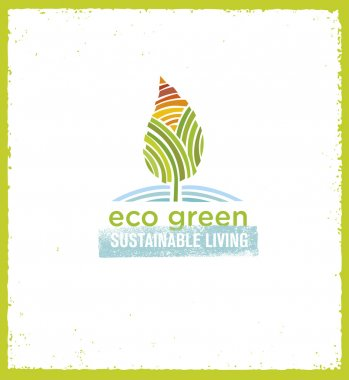 Eco Green Sustainable Living Concept