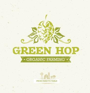 Green Hop Organic Farming Background