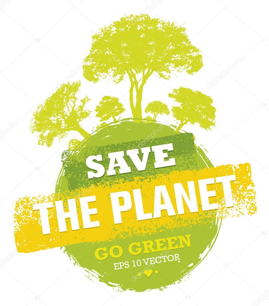Save The Planet  Design Elements