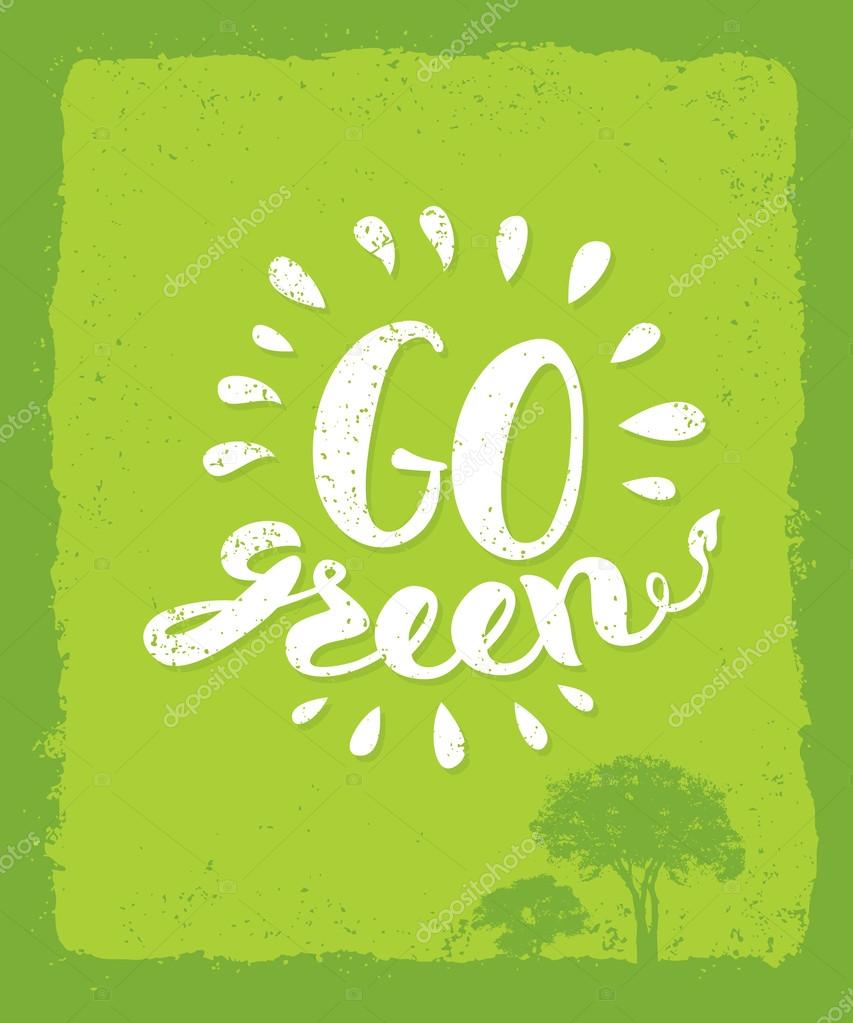 Go Green Creative Eco Concept