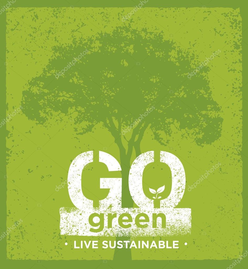 Eco Green Concept Stock Vector Wow Subtropica 93744704