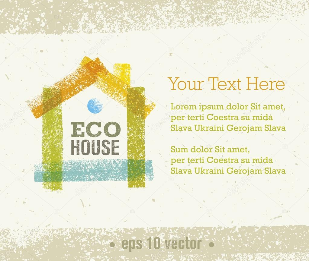 Eco House Creative Background