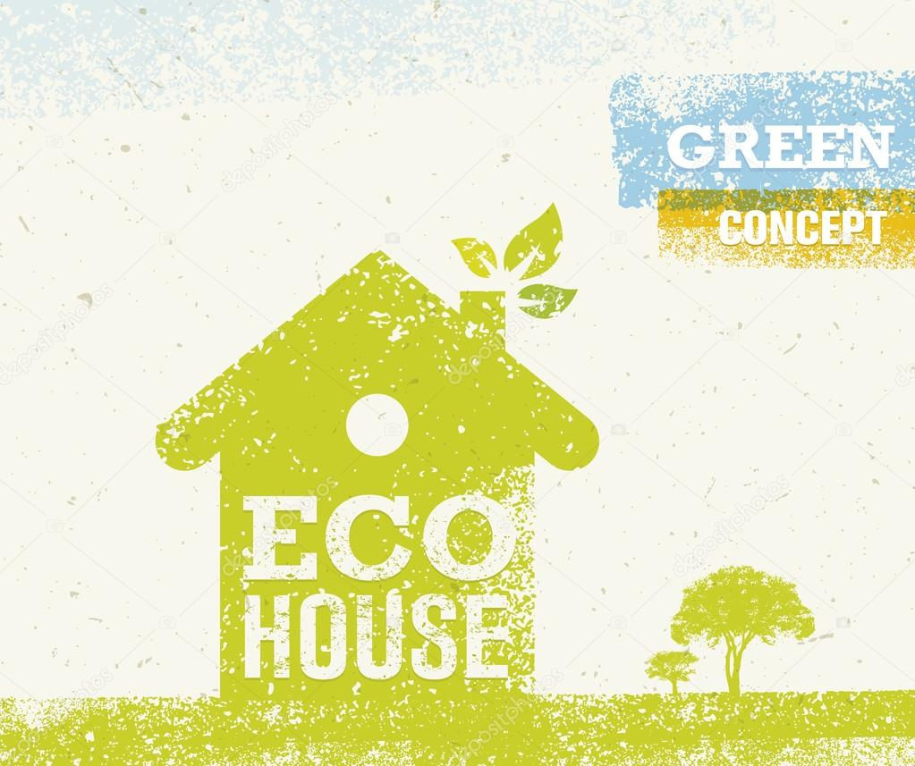 Eco House Green Creative Concept