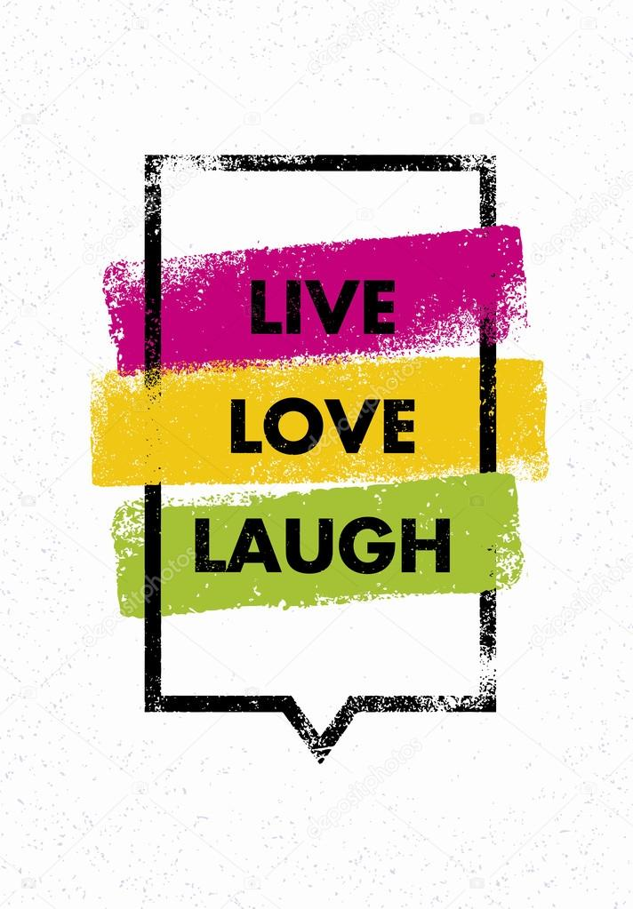 Live Love Laugh Quote Stock Vector Wowsubtropica 93747126