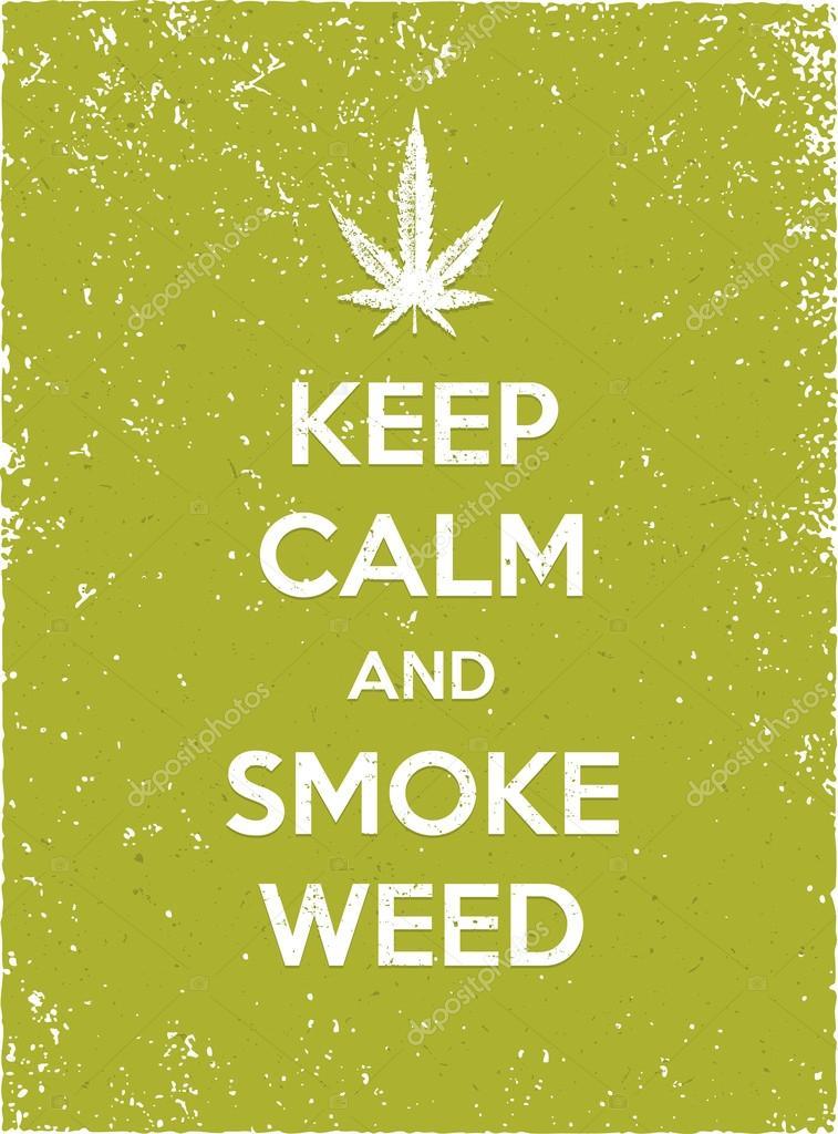 Keep Calm And Smoke Weed Stock Vector