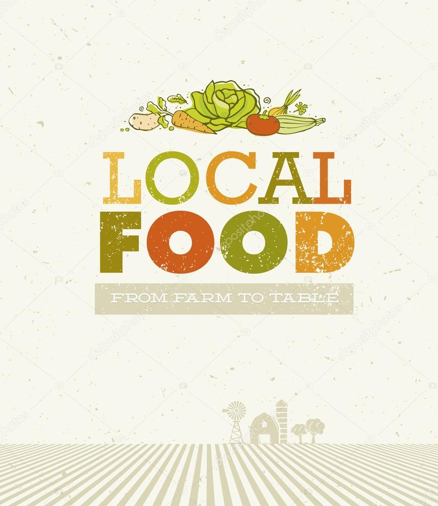 Local Food From Farm Concept