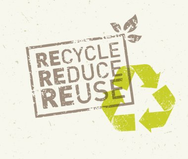 Recycle, reduce, reuse eco concept