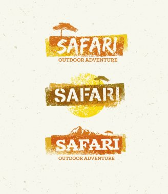 Safari Outdoor Adventure Background