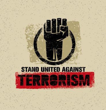 Stand United Against Terrorism Poster