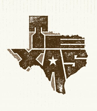 Texas State Creative Typography Lettering