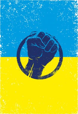 Ukraine Revolution Fist Creative Sign