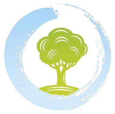 Eco Tree Inside Zen Circle