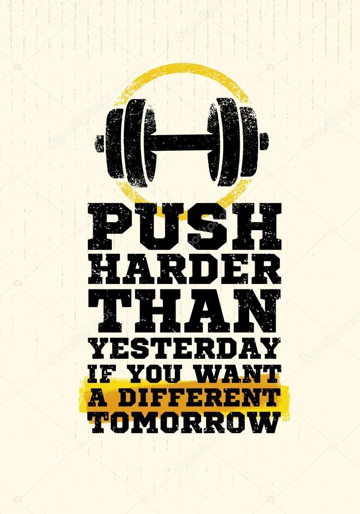 Workout Motivation Quote — Stock Vector © wow.subtropica ...