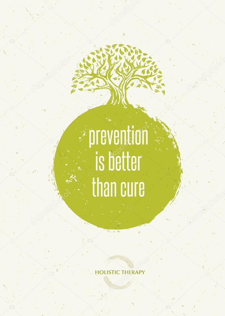 Prevention Is Better Than Cure Quote Stock Vector Wowsubtropica