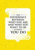 Rozdíl mezi kdo jste a kdo chcete být