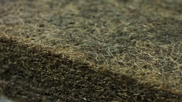 Closeup texture of coconut coir for making mattresses