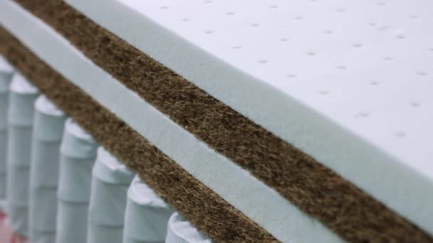 Closeup texture of memory foam for making mattresses
