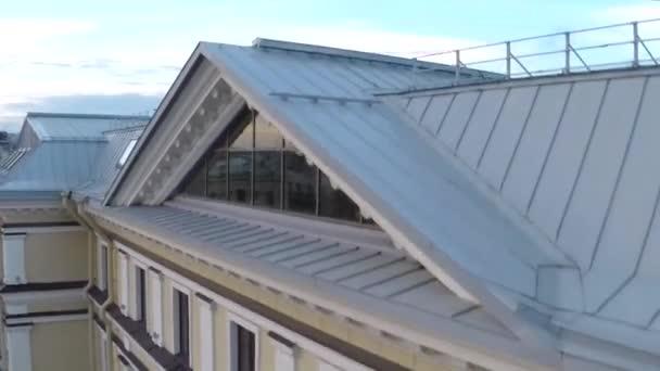 Střechy Evropské město. Kamera se pohybuje