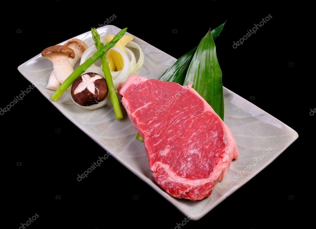 Japanese red beef for teppanyaki set