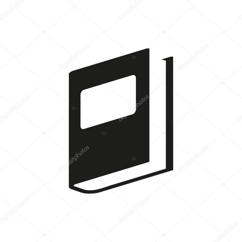 黒い本シンプルなアイコン — ストックベクタ