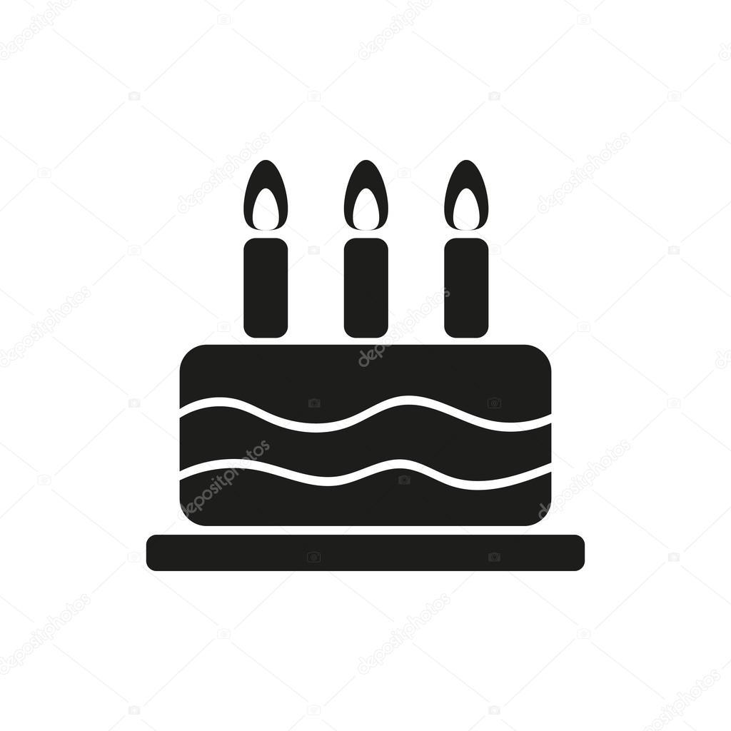 taart pictogram eenvoudige zwart een taart pictogram op witte achtergrond  taart pictogram