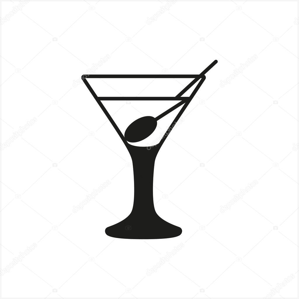 Ic ne de coupe verre martini transparent en ic ne de style for Utiliser un coupe verre