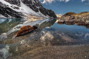Azure mountain lake