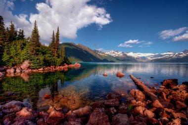 """Картина, постер, плакат, фотообои """"Горное озеро с идеальное отражение"""", артикул 93376634"""