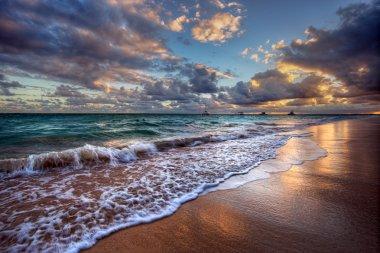 Inspiring and dynamic ocean bay sunrise