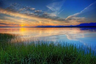 Bright blue sunrise