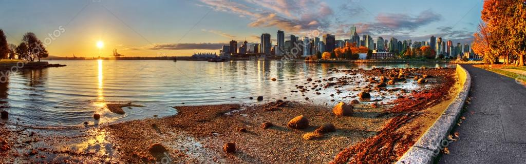 Vancouver downtown sunrise