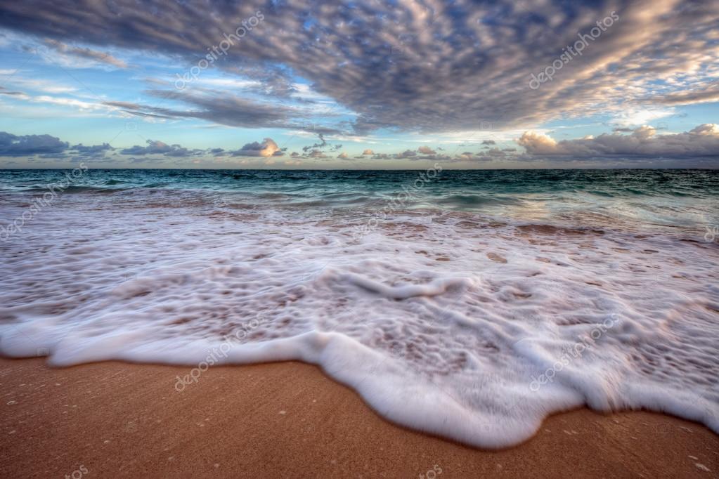 ocean beach at sunset