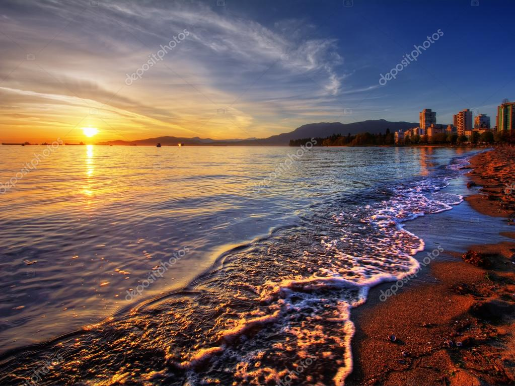 Vancouver downtown sunset