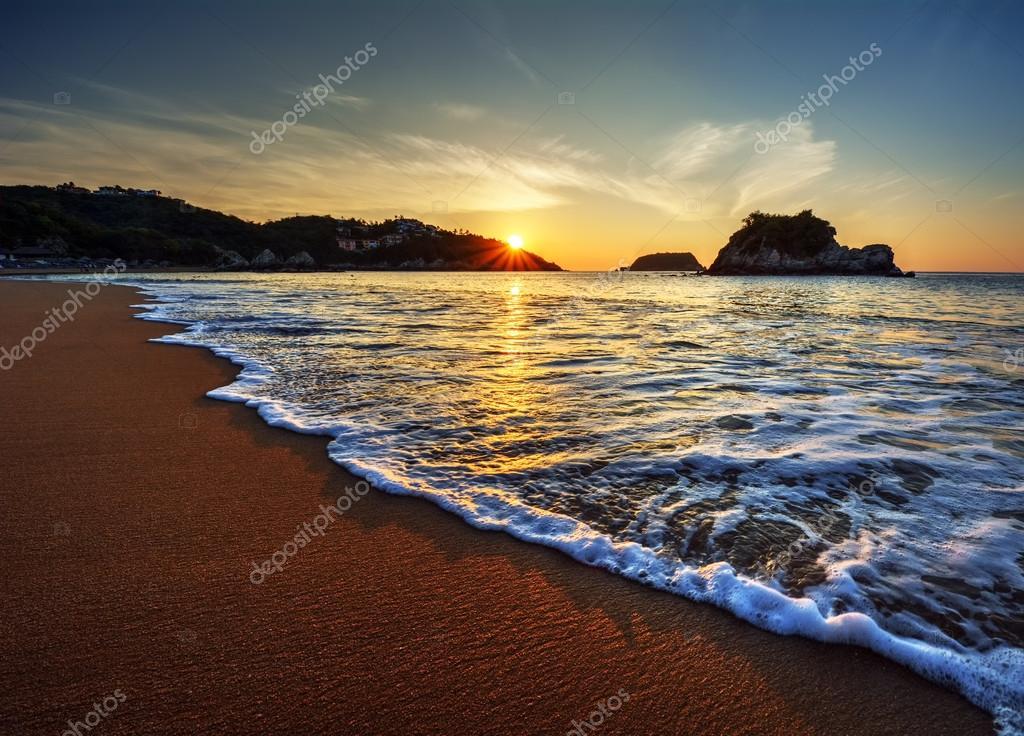waves along the shore