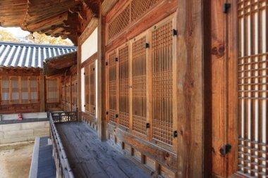 korean traditional wood house 'HanOk' close up