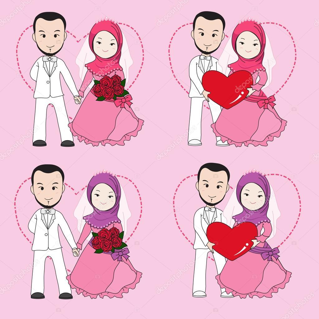 pareja boda musulmana — Archivo Imágenes Vectoriales © fatidea.gmail ...