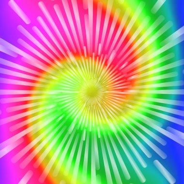 Tie Dye Colors. Beautiful Realistic spiral tie-dye vector illustration