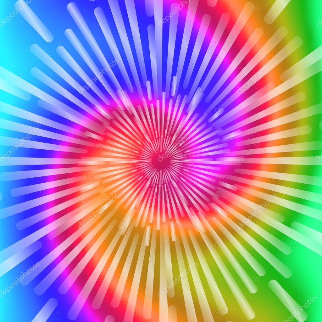Krawatte Farbstoff Farben. Schöne realistische Spirale ...