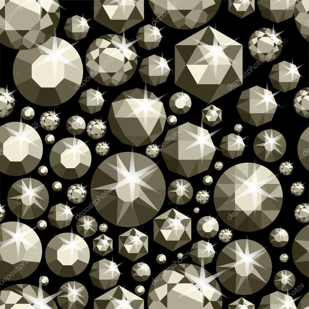 d00b1a7a121d Patrón transparente con diversas joyas. Fondo transparente de las piedras  preciosas. Diseño del diamante. Ilustración de vector — Vector de ...