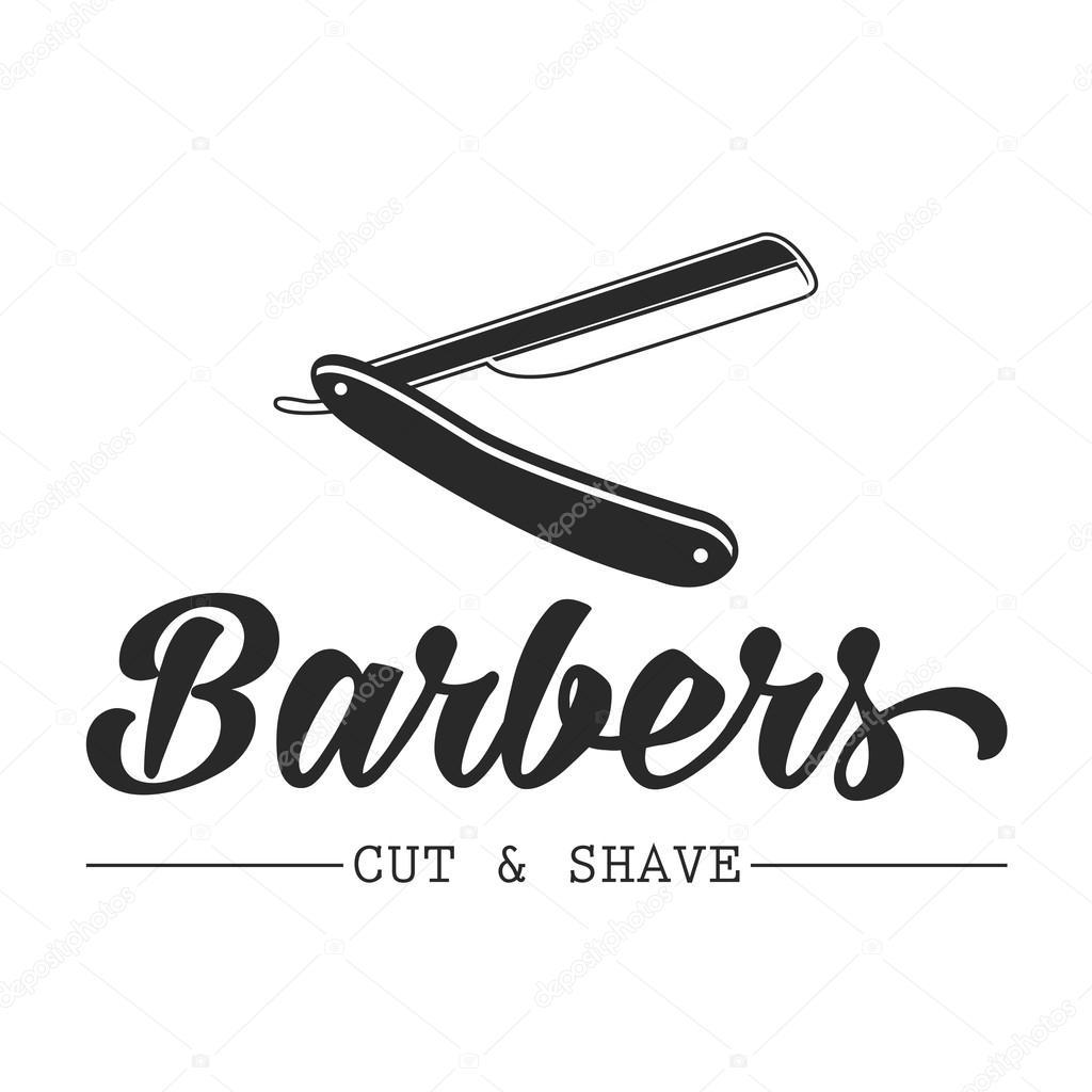 Cabelo salão vector rótulos em estilo vintage. Cabelo corte loja beleza e  barbeiro. Logotipo