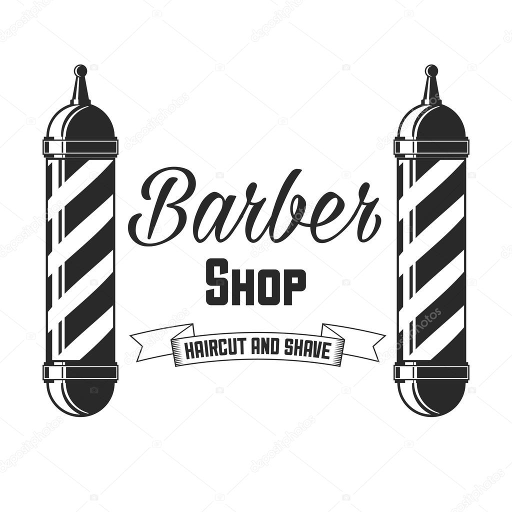 e3dd26a6a4e Hair salon vector labels in vintage style. Hair cut beauty and barber shop.  Vintage