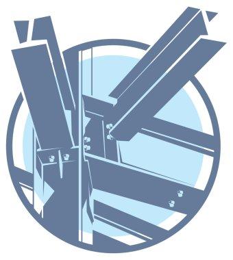 Vector construction metal frame icon