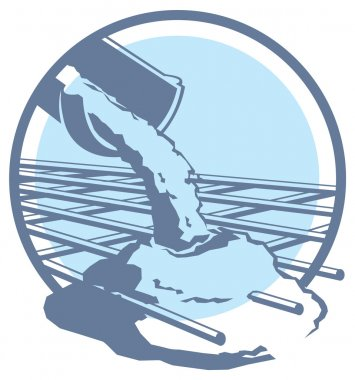 Vector pouring concrete icon