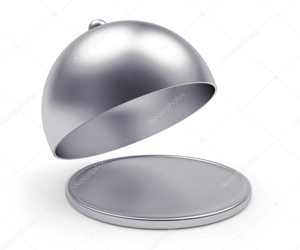 Vassoio d 39 argento con coperchio aperto foto stock - Silver la porta di liv ...