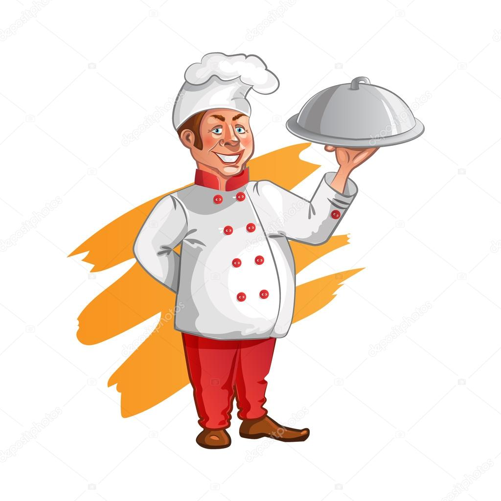 illustration of chef profession and cook professional cooks