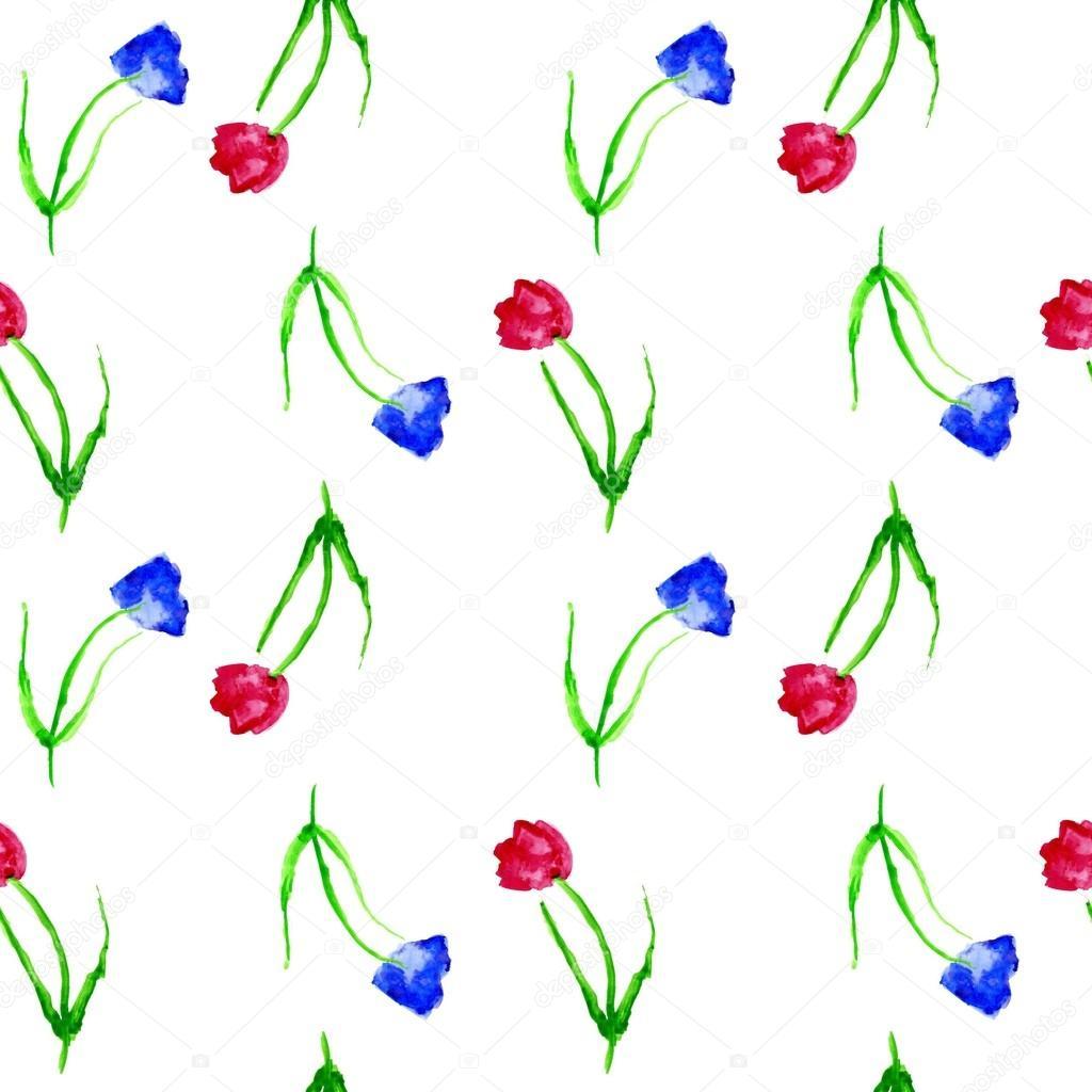 Fond Transparent Avec Tulipes Fond Aquarelle Avec Des Tulipes