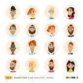Emberek avatars gyűjtemény