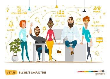Business characters scene.