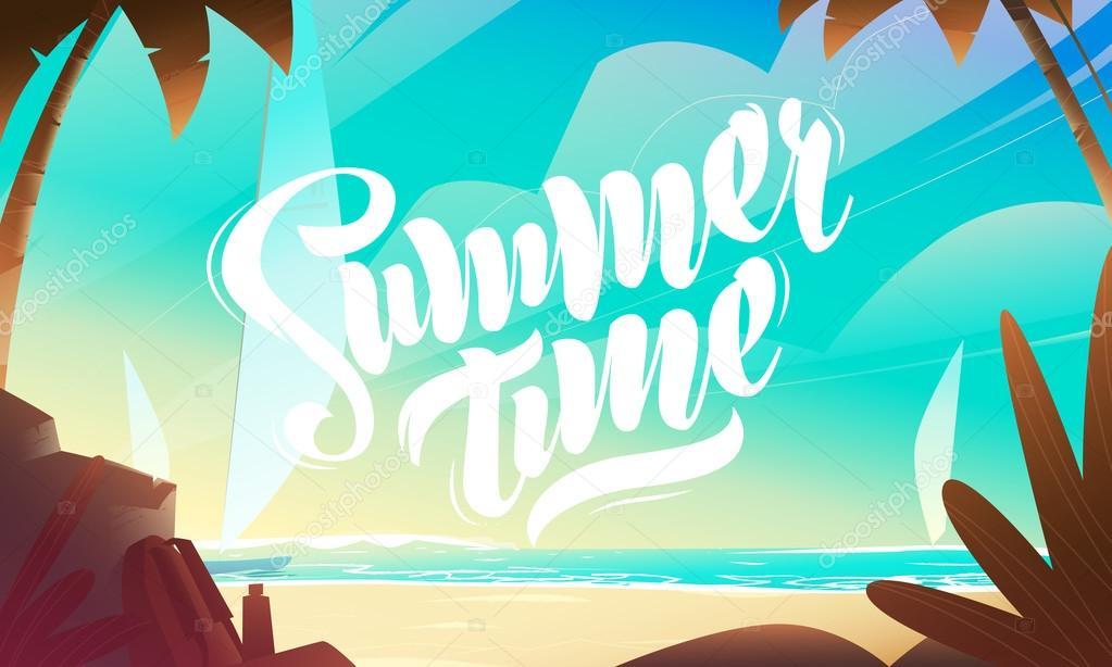 夏のビーチ デザイン文字 ストックベクター alexdrumcheg gmail com