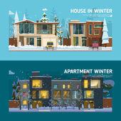 Dva rodinné dům a byt bannery